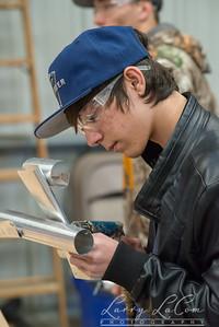 Izaack Ryder working on his practice model