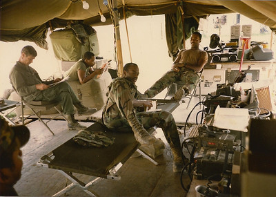 In between operations; US Army contingent's commo shack