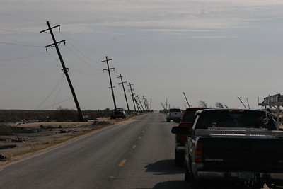 Disaster recovery convoy to Holly Beach, LA