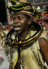 A samba dancer dressed as a slave performs at the Sambadrome during the Sao Clemente samba school parade,  Rio de Janeiro, Brazil, February 11, 2013. (Austral Foto/Renzo Gostoli)