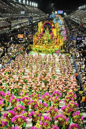 Mangueira samba school parades at Sambadrome, Rio de Janeiro, Brazil, February 11, 2013. (Austral Foto/Renzo Gostoli),