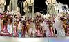 Inocentes de Belford Roxo samba school parades at Sambadrome, Rio de Janeiro, Brazil, February 10, 2013. The Inocentes do Belford Roxo Samba school parade pays tribute to South Korea during Rio de Janeiro's 2013 carnival celebrations. (Austral Foto/Renzo Gostoli)