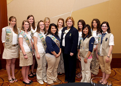 Gold Award candidates with Marilyn Midyette, CEO of the Girl Scouts of Greater Atlanta