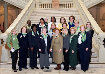 Women legislators with GSA of Greater Atlanta CEO Marilyn Midyette and key staff