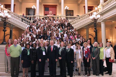 GA Girl Scouts with Governor Nathan Deal