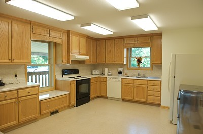 'Tree House' main building interior, kitchen