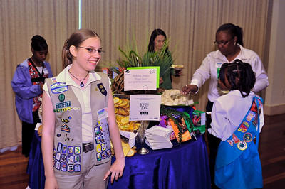 Ashley Jones of troop 7027represents the Get Global Committee