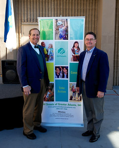 Mayfield Dairy President Scottie Mayfield and Gary Key, VP of Development, Marketing, & Communications for the Girl Scouts of Greater Atlanta