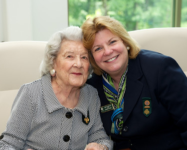 With longtime Girl Scout leader and volunteer Claire Thompson Smith, May 25, 2010