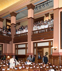 Girls Scouts fill the gallery of the GA House of Representatives