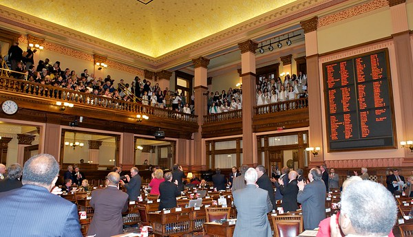 House memebrs recognize the Girl Scouts with applause