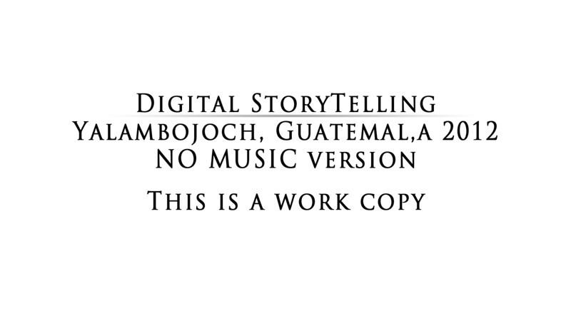 This video gives you an insight to what digital storytelling is about and what we have done. This version has no music in it and is yet to be worked on.