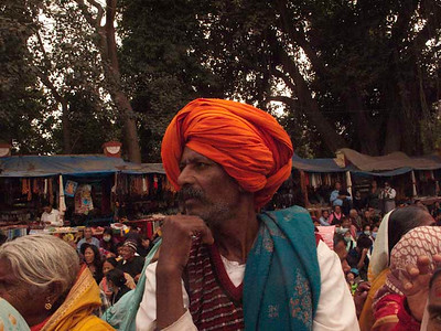 HH Dalai Lama giving the Kalachakra-religious teachings. Kalachakra Initiation in Bodhgaya, India. (Jan-2012)