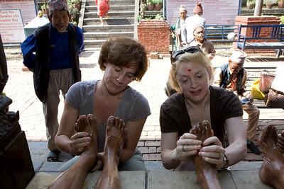 Massage to Elders, Pashupatinath, Kathmandu, Nepal.