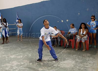BEIJA FLOR MIRIM-  Crianca discapacitada da ala mirim da Escola de samba Beija Flor de Nilopolis ensasia no ginasio, Rio de Janeiro, Brazil, Janeiro 21, 2012. (Austral Foto/Renzo Gostoli)