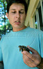 CETAS RJ Centro de Triagem de Animais Silvestres - Daniel Marchesi Neves, responsavel pelo CETAS RJ mostra um filhote de tartaruga.,  Rio de Janeiro, Brasil, Maio 9, 2012.  (Austral Foto/Renzo Gostoli)