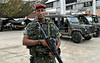 Para Infosurhoy - Capitan Rocha, militar paracaidista da entrevista en campamento en ex-fabrica de CocaCola en Complexo do Alemao, Rio de Janeiro, Brazil, Diciembre 10. (Austral Foto/Renzo Gostoli)
