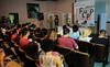FLUPP - Participantes do FLUPP no Centro Cultural Cartola, Mangueira, Rio de Janeiro, Brasil, Junho 30, 2012.  (Austral Foto/Renzo Gostoli)