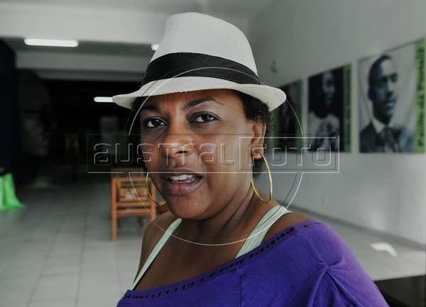 FLUPP - Alexandra Monteiro, participante do FLUPP no Centro Cultural Cartola, Mangueira, Rio de Janeiro, Brasil, Junho 30, 2012.  (Austral Foto/Renzo Gostoli)