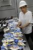 CAIS DA IMPERATRIZ-  A arqueóloga Tânia Lima do IPHAN restos arqueologicos descobertos no Cais Da Imperatriz e do Valongo, Rio de Janeiro, Brasil, Marco 25, 2011.  (Austral Foto/Renzo Gostoli)