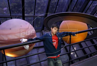 CLUBINHO DA CRIANCA-PLANETARIO - Carlos Henrique Pereira de Souza no Planetario, Rio de Janeiro, Brasil, Novembro 26, 2011.  (Austral Foto/Renzo Gostoli)