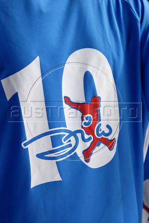 MANGUEIRA ESCOLINHA ZICO -  Camiseta com logotipo do projeto escolinha de futebol do Zico na quadra da Mangueira,  Rio de Janeiro, Brasil, Janeiro 4, 2012.  (Austral Foto/Renzo Gostoli)