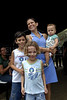 DIA DAS CRIANCAS NO ALEMAO - Débora de Franco e os três filhos entrevistada durante a festa no Complexo do Alemao, Rio de Janeiro, Brasil, Outubro 12, 2011.  (Austral Foto/Renzo Gostoli)