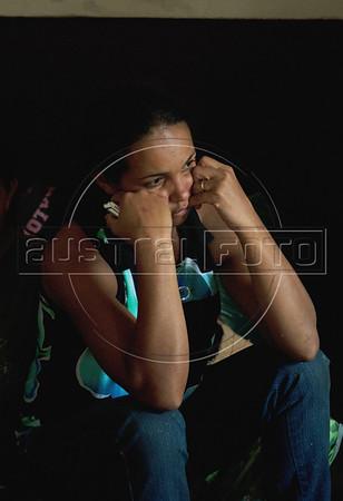 Rita de Cássia da Silva Freitas Freiman, vitima das enchentes, esta refugiada num centro para desabrigados em Nova Friburgo, Rio de Janeiro,Brazil, Janeiro 15, 2011.  (Austral Foto/Renzo Gostoli)