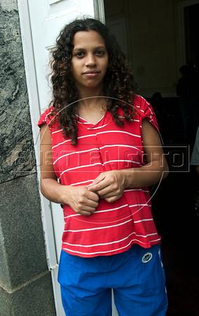 Tais Coimbra da Silva, 22,  gravida vitima das enchentes, esta refugiada num abrigo em Nova Friburgo, Rio de Janeiro,Brazil, Janeiro 15, 2011.  (Austral Foto/Renzo Gostoli)