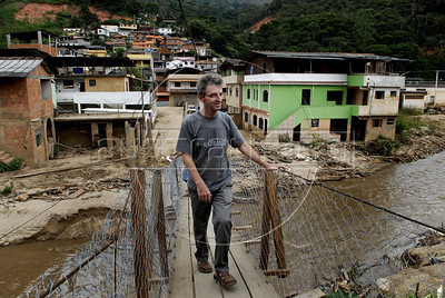 NOVA FRIBURGO UM ANO DEPOIS -  Gabriel Mafort, empresário, Nova Friburgo, Rio de Janeiro, Brazil, Janeiro 26, 2012. (Austral Foto/Renzo Gostoli)