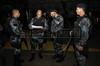 FAVELA DO CAJU -  Efetivos do Batalhao de Choque da PM estudam as ultimas informaçoes antes de ocupar o complexo de favelas do Caju, Rio de Janeiro, Brasil, Março 3, 2013.   (Austral Foto/Renzo Gostoli)