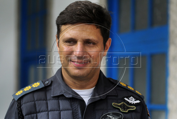FAVELA DO CAJU - Tte. Coronel Fredericono QG  da Policia Militardurante a ocupaçao do complexo de favelas do Caju, Rio de Janeiro, Brasil, Março 3, 2013.   (Austral Foto/Renzo Gostoli