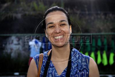 FUTEBOL NA FAVELA DOS PRAZERES -  Ana Paula Bessa  do projeto Premier Skills-Esporte Seguro na favela pacificada Dos Prazeres, Rio de Janeiro, Brasil, Dezembro 22, 2011.  (Austral Foto/Renzo Gostoli)