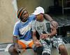 PROJETO MORRINHO -   Cilan Oliveira, 28, junto ao seu pai na comunidade 'Pereirao',  Rio de Janeiro, Brasil, Abril 10, 2012.  (Austral Foto/Renzo Gostoli)