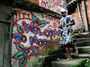 PROJETO MORRINHO -   Cilan Oliveira, 28, numa ruela da comunidade 'Pereirao',  Rio de Janeiro, Brasil, Abril 10, 2012.  (Austral Foto/Renzo Gostoli)