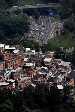 General view of Cerro Cora slum, Rio de Janeiro, Brazil, June 4, 2011. (Austral Foto/Renzo Gostoli)