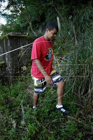 TRILHAS-  Santa Marta. Thiago Firmino, guia turistico de trilha, Rio de Janeiro, Brasil, Junho 5, 2011.  (Austral Foto/Renzo Gostoli)
