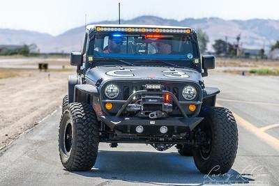 Police jeep rocket retrieval vehicle