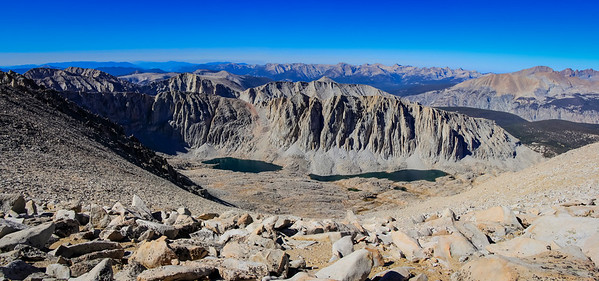 View of the Sierra Nevada range from near the Whitney summit.