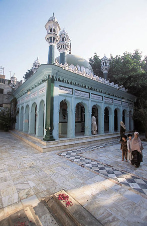 The Shah Daula shrine is now officially state-run, but a gang still profits from the chuhas. Gujrat, Pakistan.