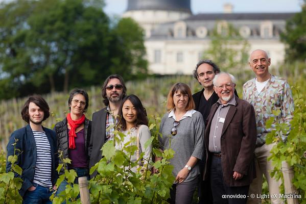 Le Grand Jury et le président d'œnovidéo dans les vignes du château de Taleyrand
