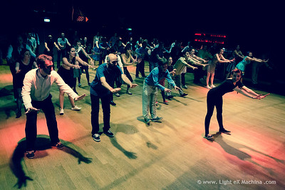 Paris Lindy EXchange - friday Bal Swing - PLEX routine taught by Fancy