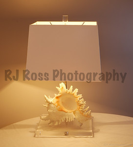 Murex table lamp with opaque shade