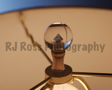 Crystal clear finials complete each one of our lamps