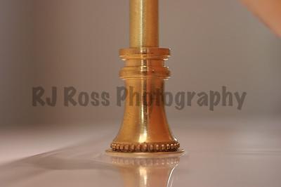 Brass base mount detail