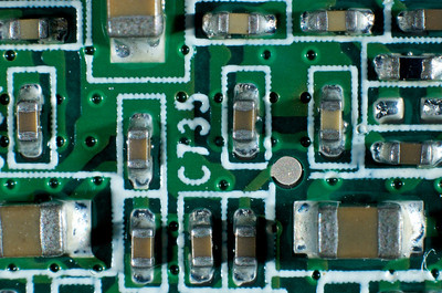 This is the area outlined by the red box on the left side of the circuit board