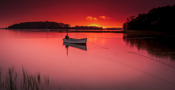 Dinghy at Sunset - Cape Cod