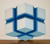 """New Jerusalem"" by Shozo Nagano, 1970.  58"" (h) x 62"" (w) x 8"" (d). Acrylic on shaped canvas."
