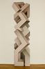 """Monolith"" by Shozo Nagano, 1974. 102"" (h) x 28"" (w) x 4"" (d). Acrylic on shaped canvas."