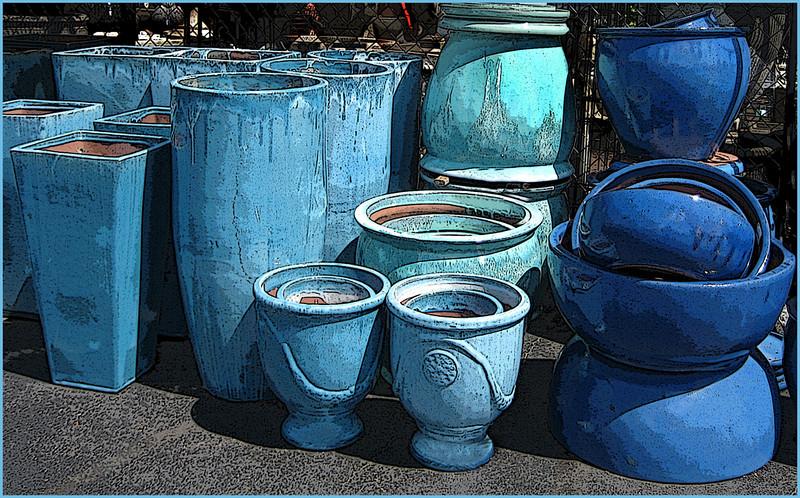 Sharon Peterson - Blue Pots